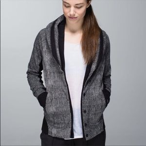 Lululemon To Class Jacket - Burlap Texture Black